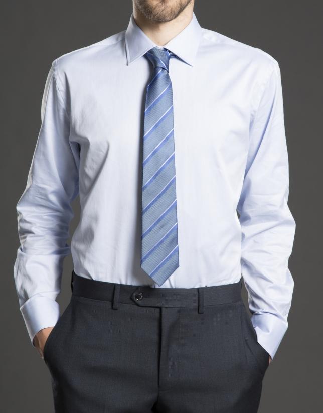 Camisa vestir rayas lila