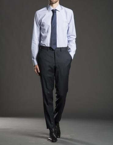 Camisa vestir rayas azul oscuro