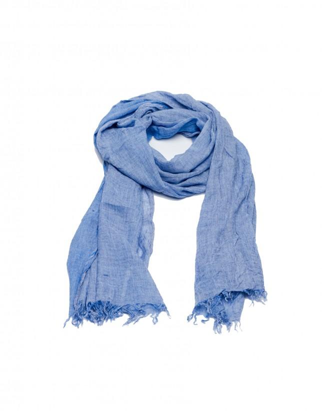 Pañuelo tonos azules
