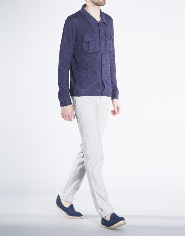 Gilet bleu marine à poches