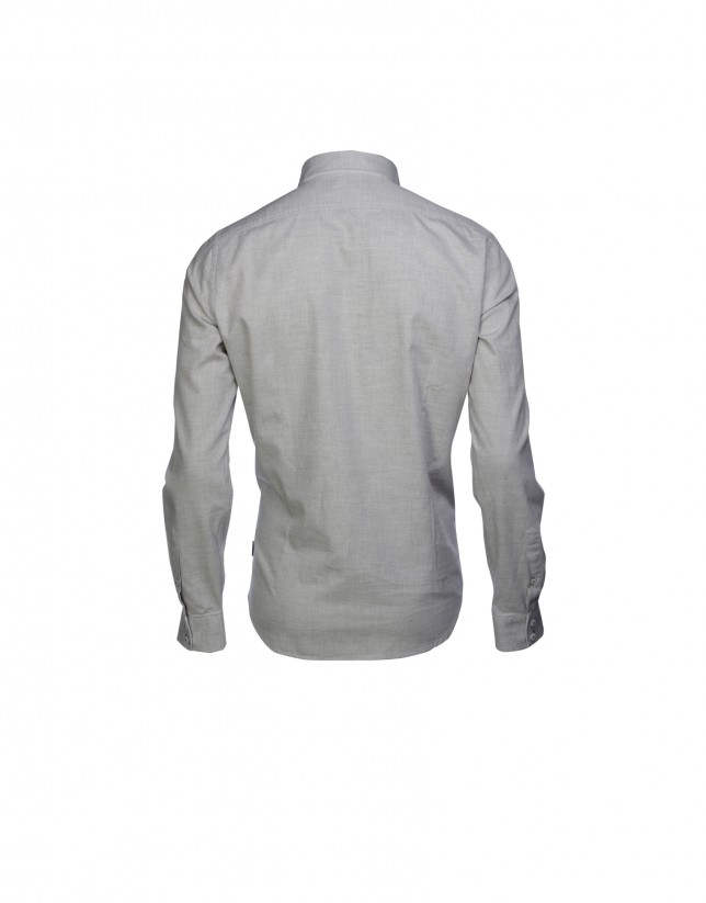 Camisa sport melange piedra