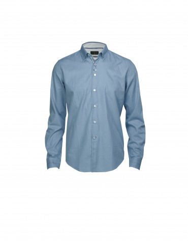Camisa sport melange azul