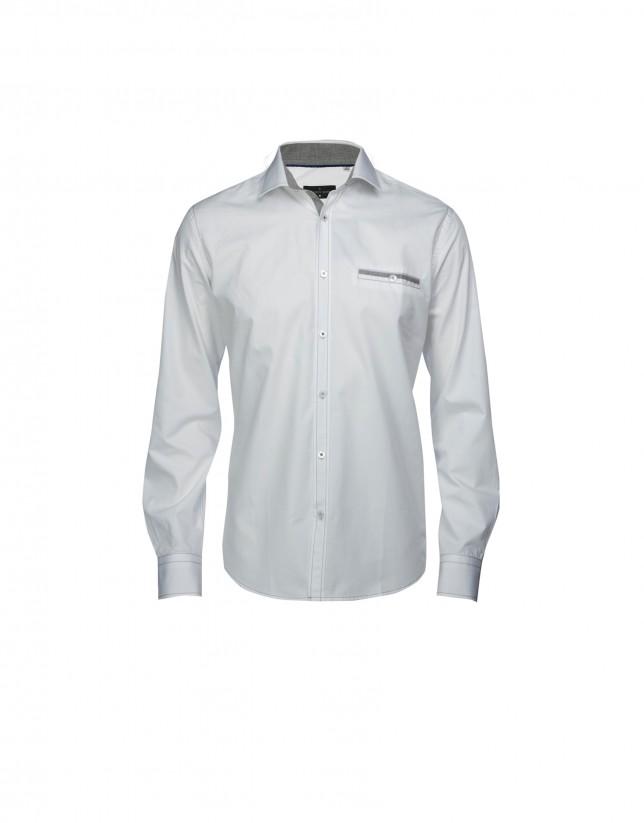 Camisa sport popelín blanco