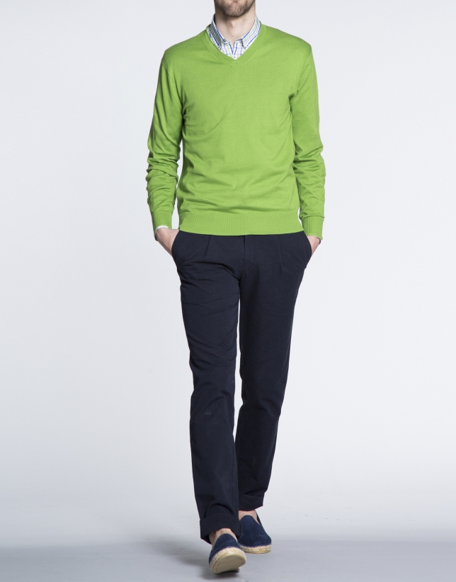 Basic green knit sweater