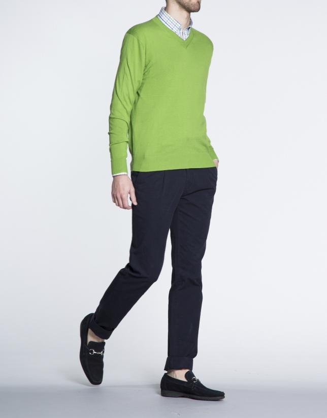 Pull basique vert