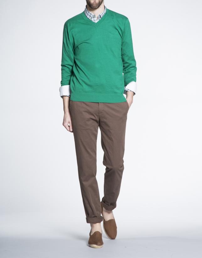 Basic emerald knit sweater