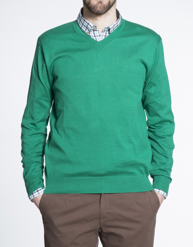Basic emerald knit sweater