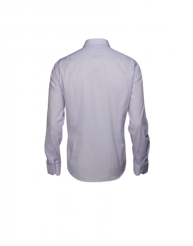 Camisa vestir mil rayas lila
