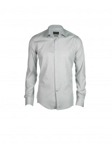Camisa vestir mil rayas gris