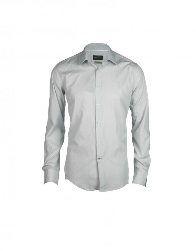 Grey striped formal shirt