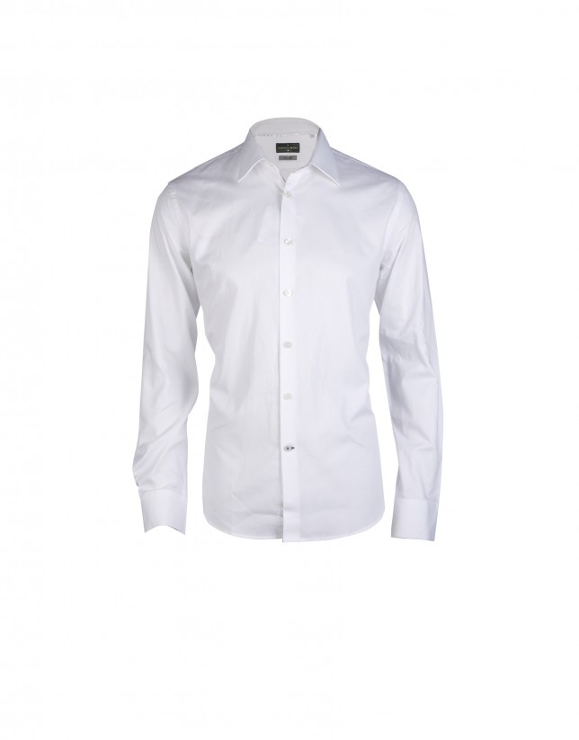 Camisa vestir Oxford blanco