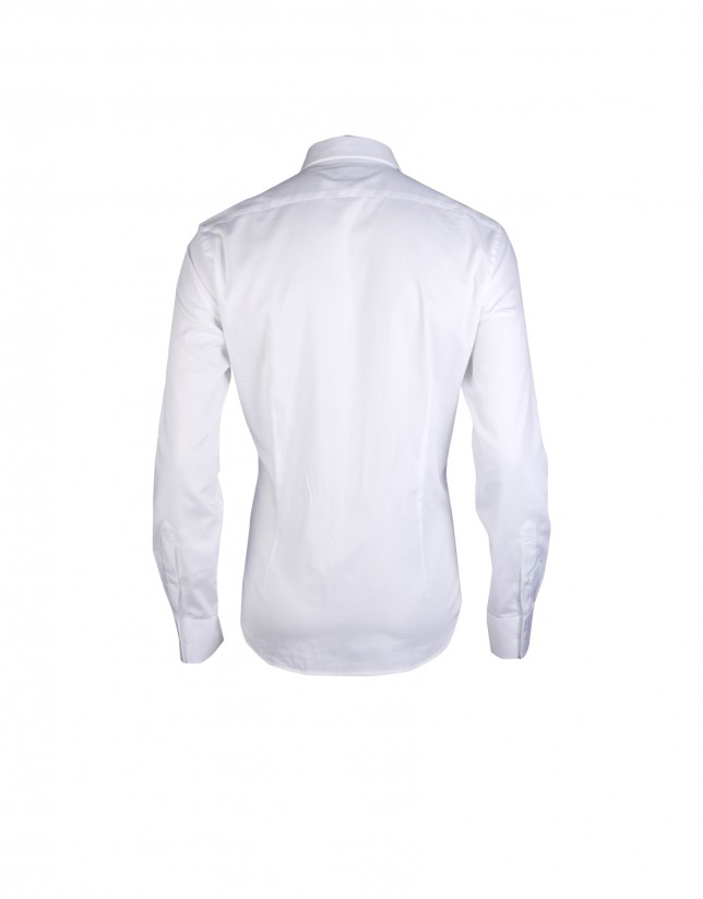White oxford-cloth formal shirt