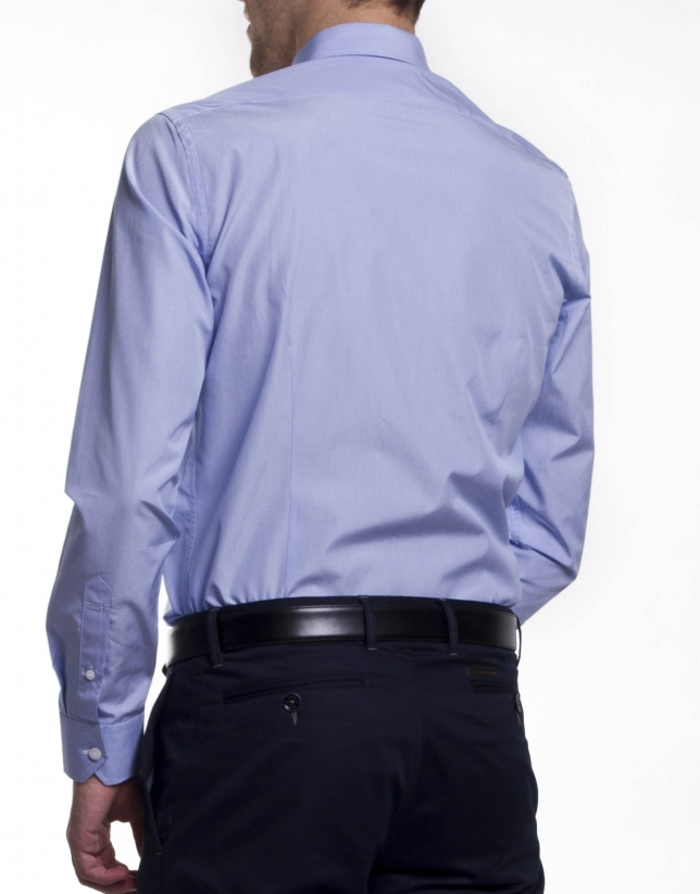 Camisa vestir raya fina