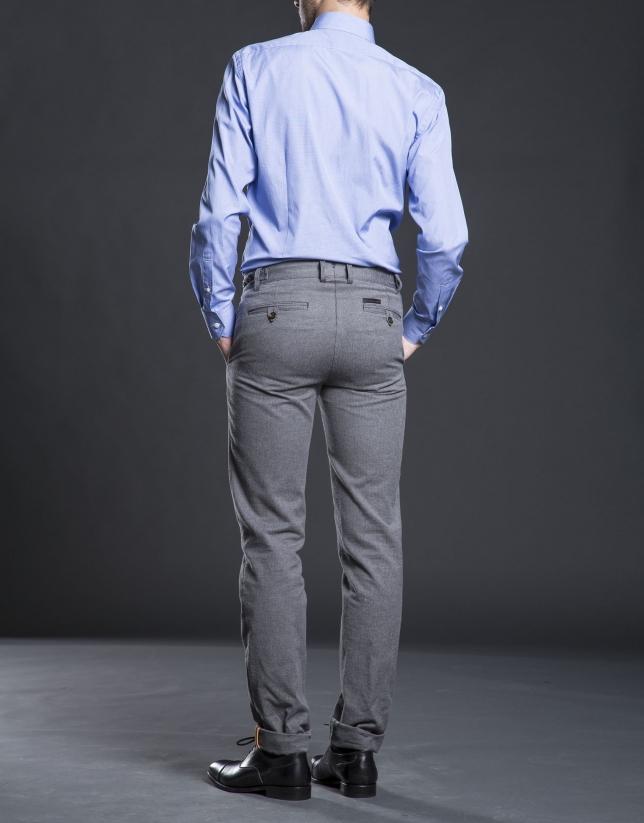 Camisa vestir mini pata-gallo azul