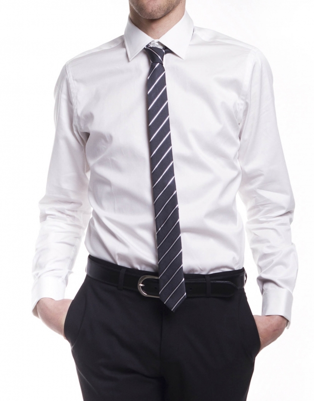 Checked dressy shirt