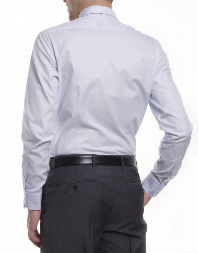 Dressy micro-design shirt