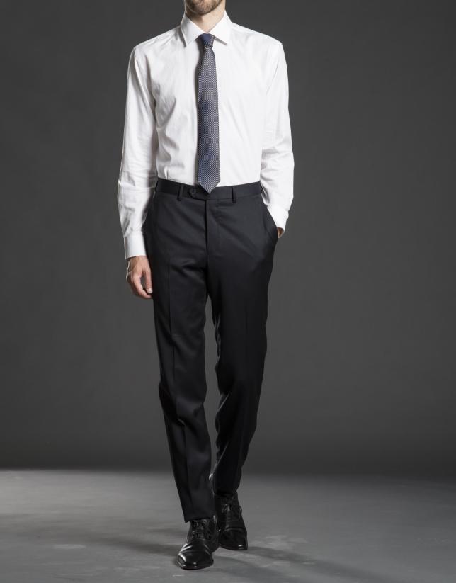 Chemise costume chevron blanc