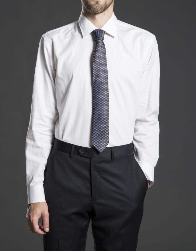 Camisa vestir espiga blanca