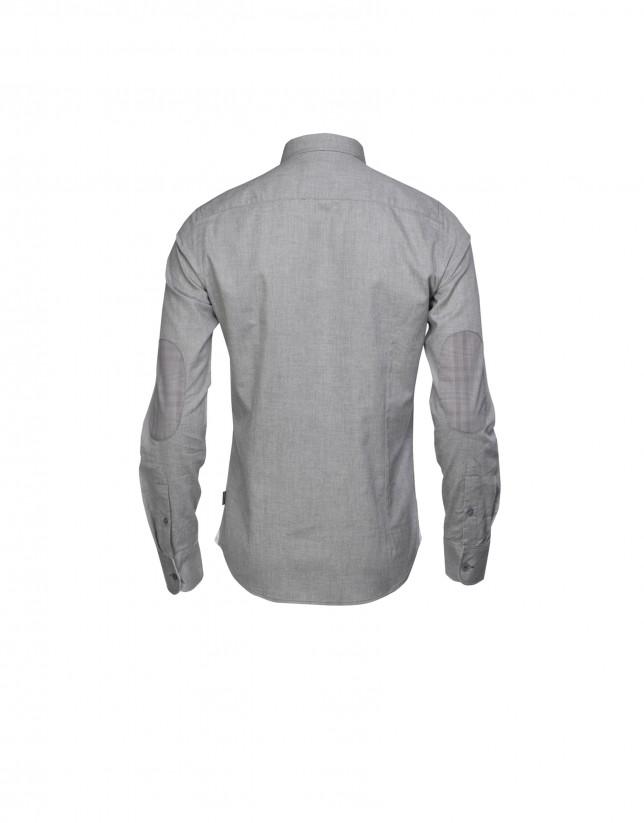 Camisa sport melange gris