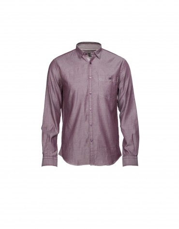 Bordeaux/white casual  shirt