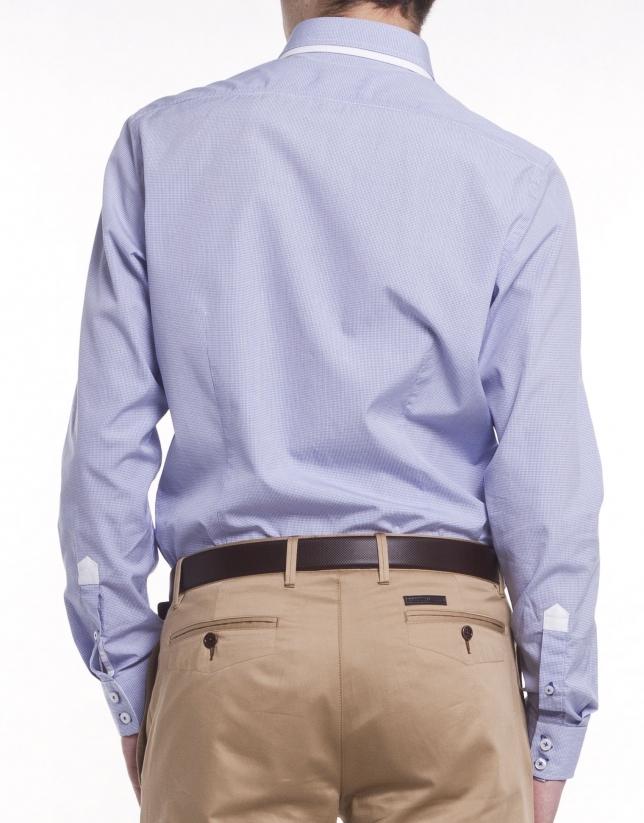 Camisa sport microdibujo