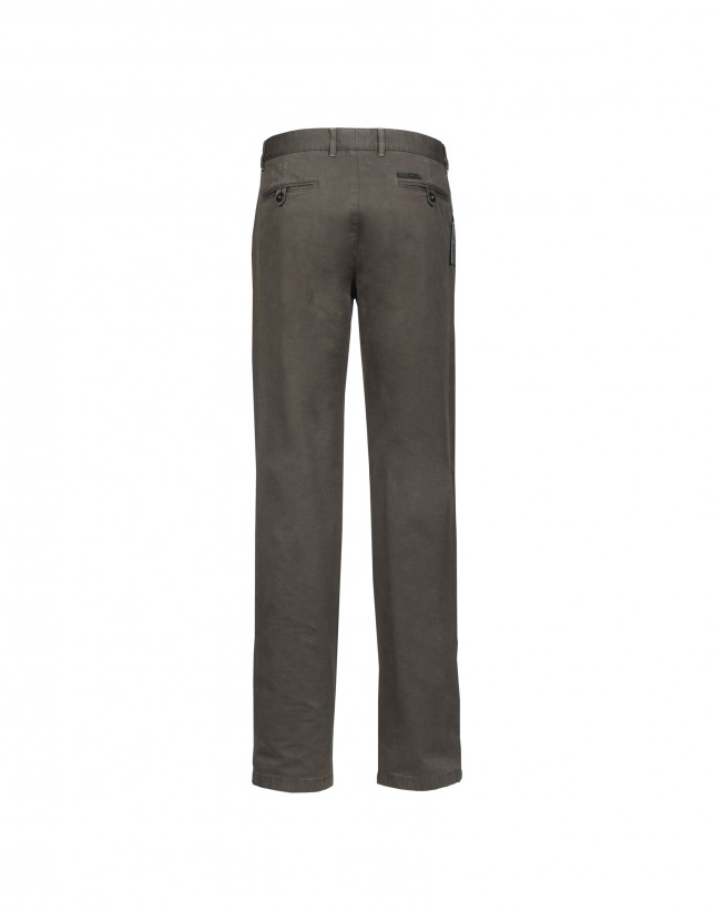 Washed brown trousers