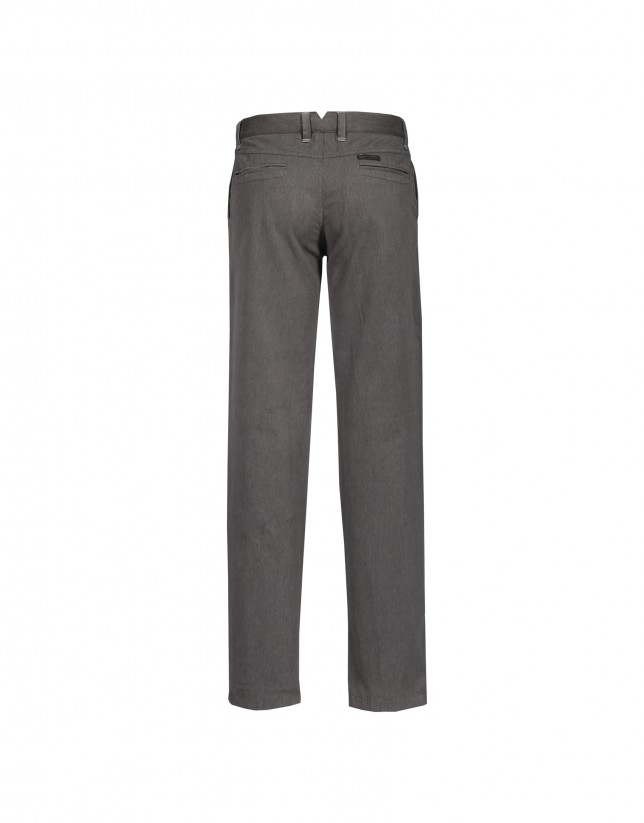 Washed navy trousers