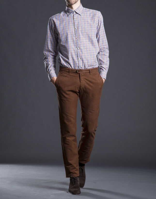 Hazelnut cotton pants