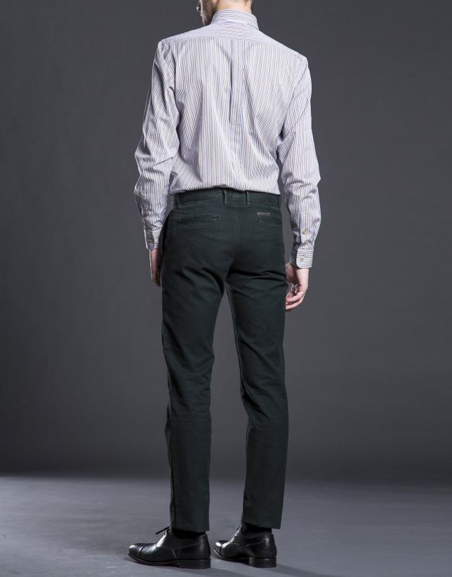 Pantalon ville coton kaki