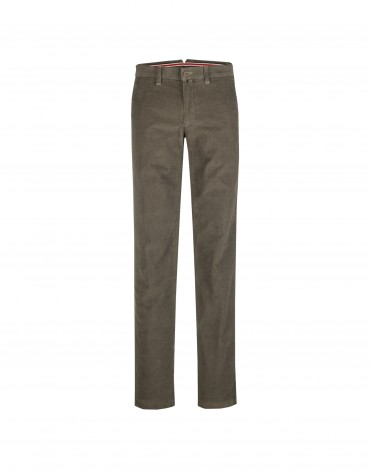 Brown ottoman semi-formal trousers