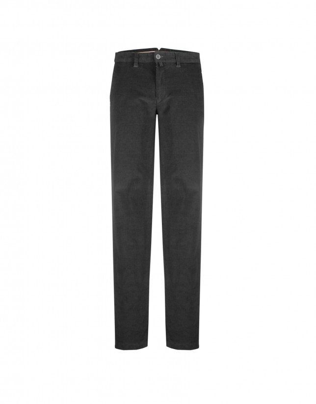 Grey ottoman semi-formal trousers