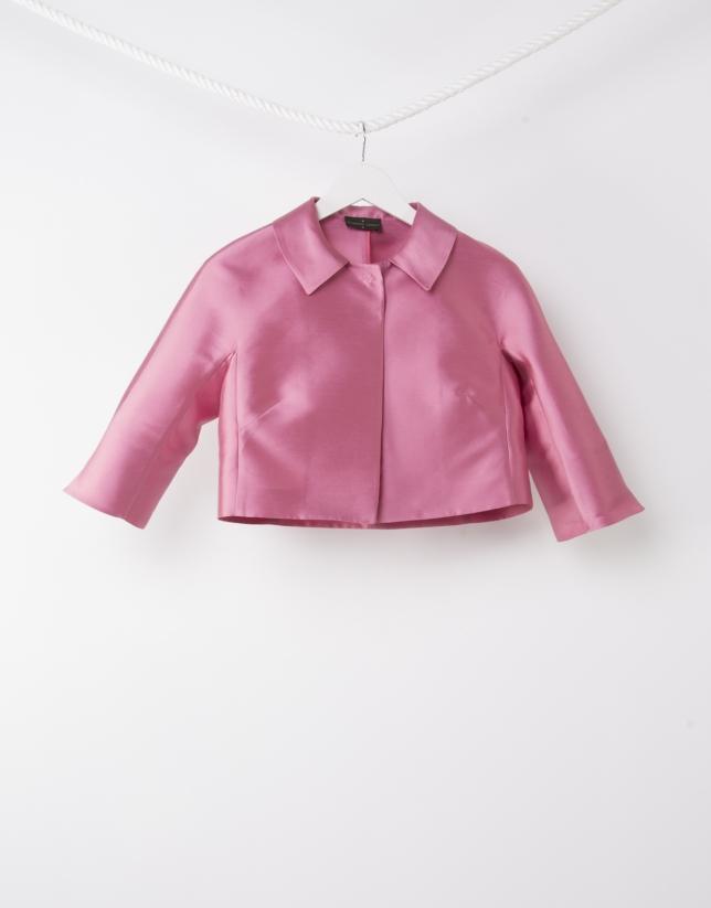 Chaqueta corta rosa