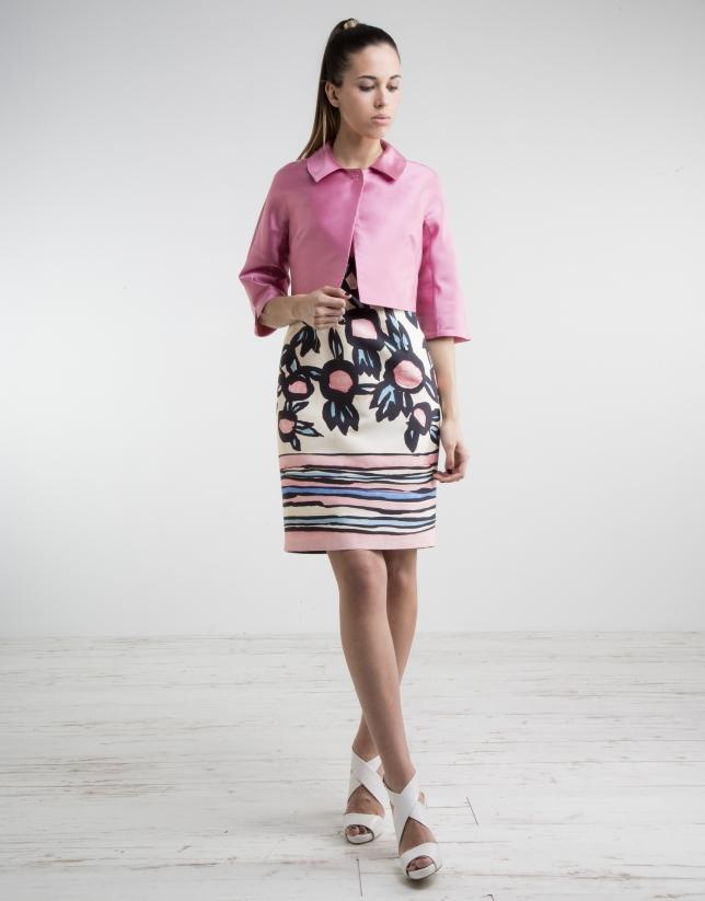 Short pink jacket