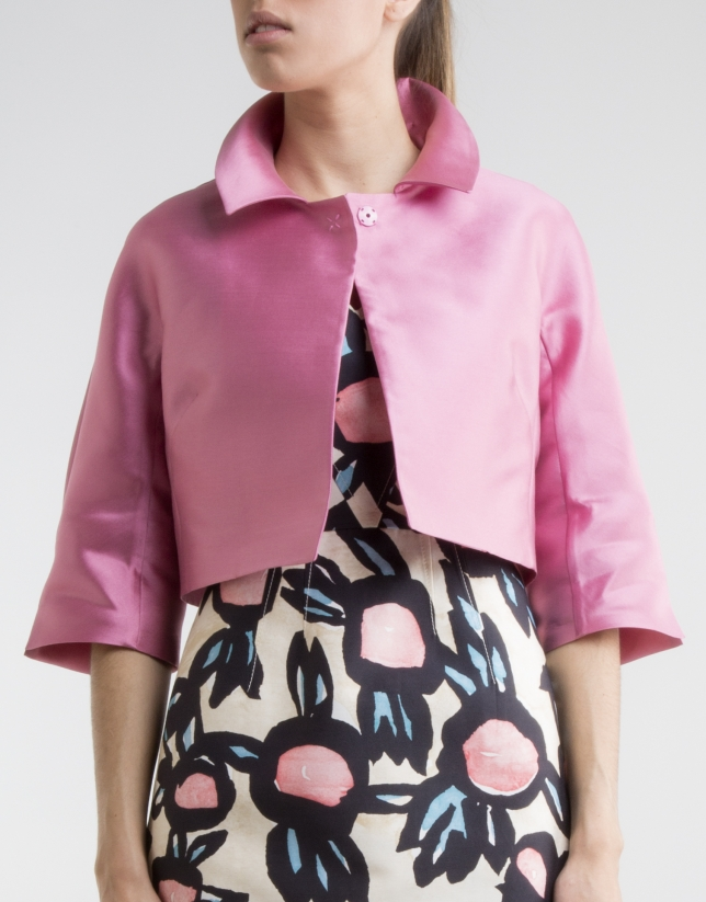 Short pink jacket - Woman | Roberto Verino