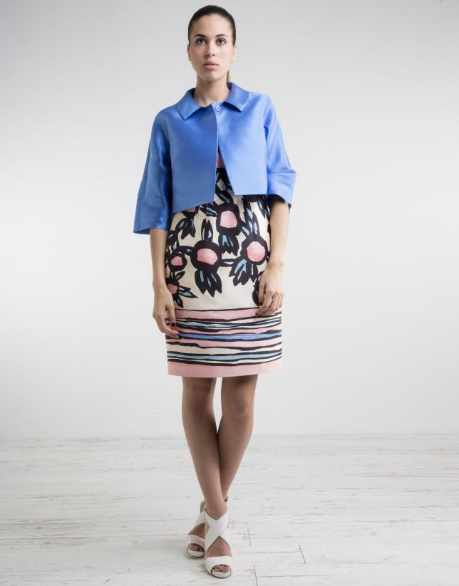 Short blue dress