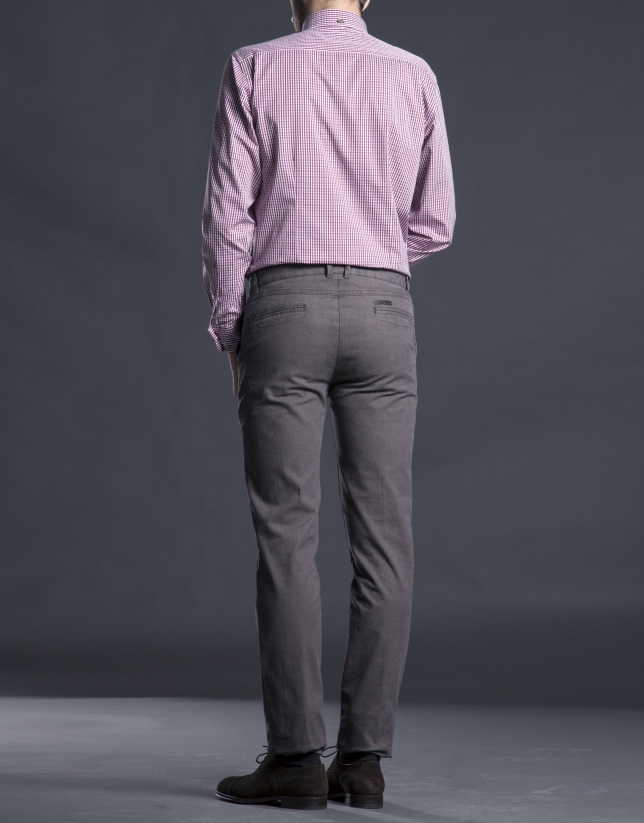 Coffee cotton pants