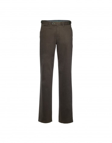 Brown semi-formal trousers
