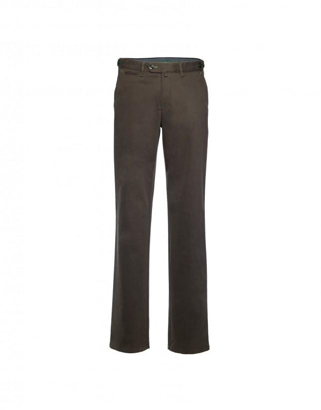 Brown semi-formal trousers