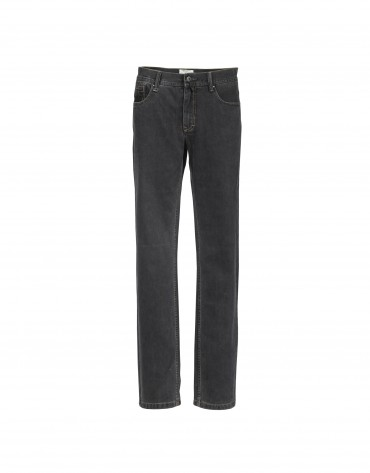 Grey cotton ottoman trousers