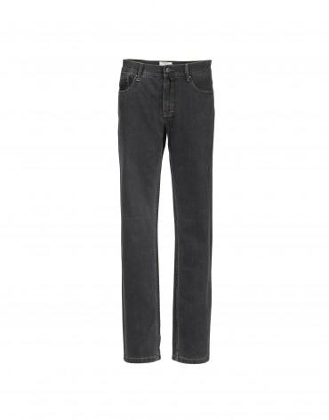 Pantalón algodón canutillo en gris