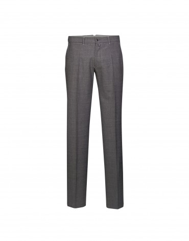 Grey houndstooth semi-formal trousers