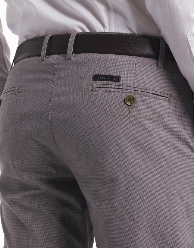 Pantalon ville pied-de-poule