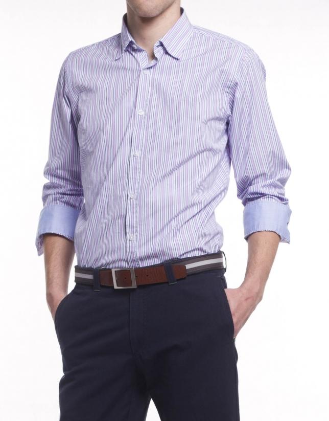 Camisa sport rayas anchas