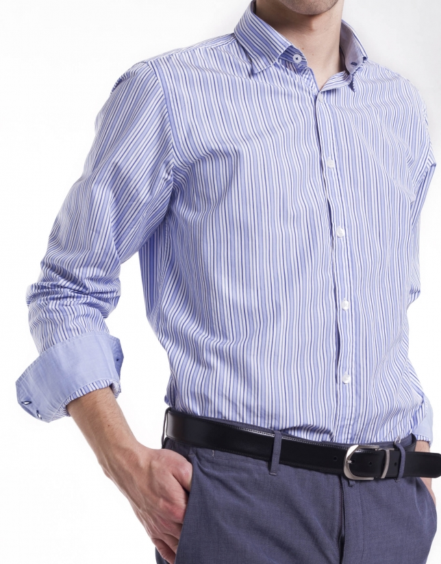 Casual wide striped shirt