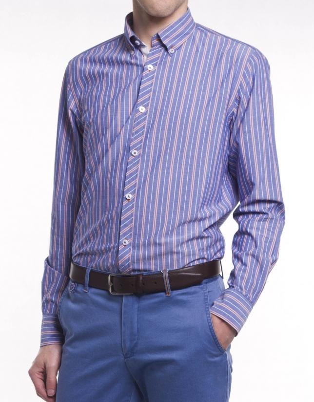 Casual multi-striped shirt