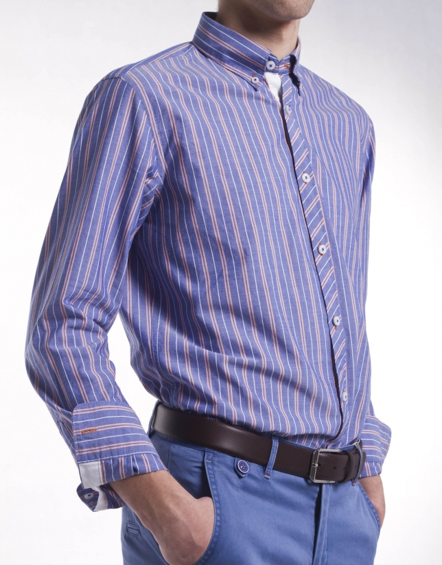 Casual multi-striped shirt
