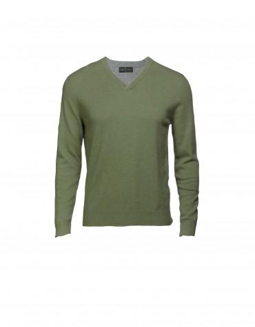 Jersey lana y cashmere verde