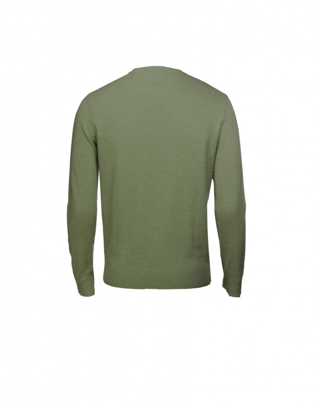 Green wool/cashmere pullover