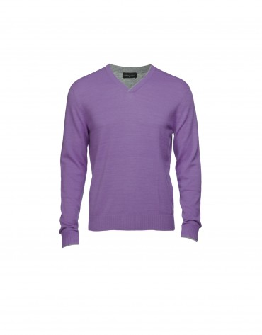 Lilac wool/cashmere pullover