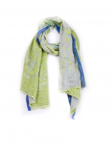 Foulard verde lima y azul